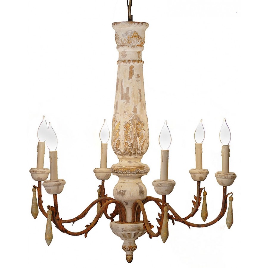 RPS3  Wood Centerpiece Chandelier