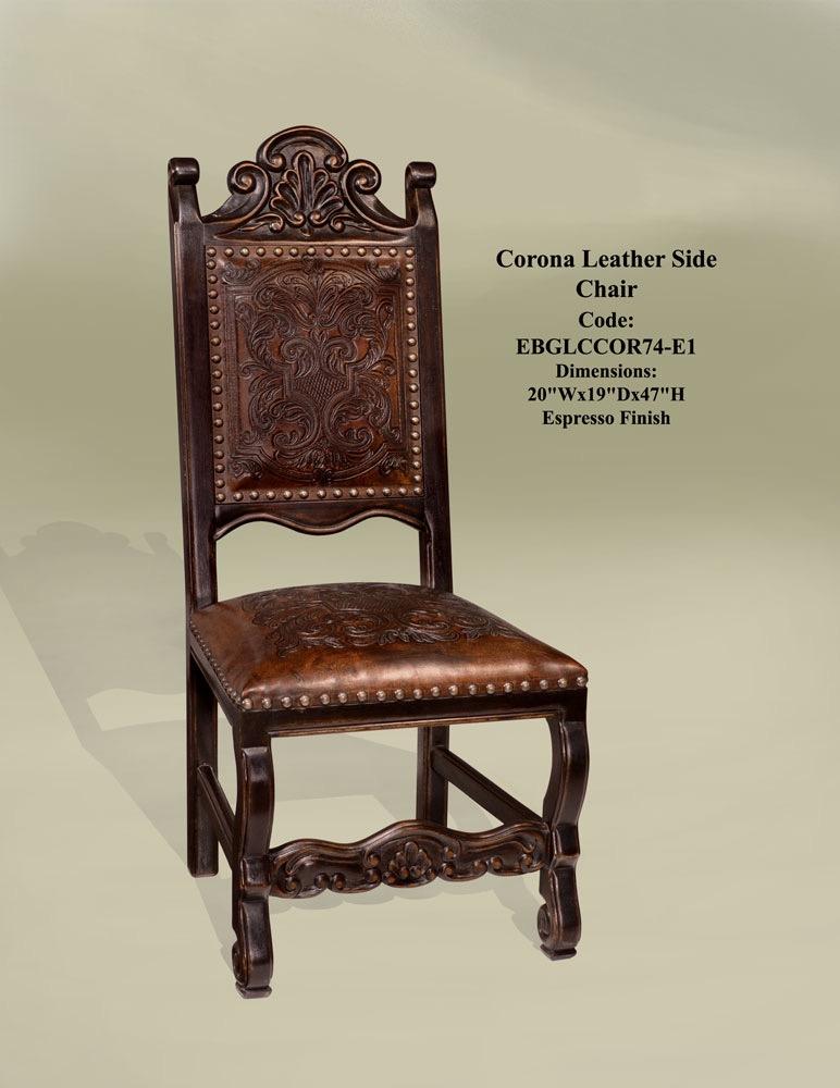 DC 9148 Corona Leather Side Chair