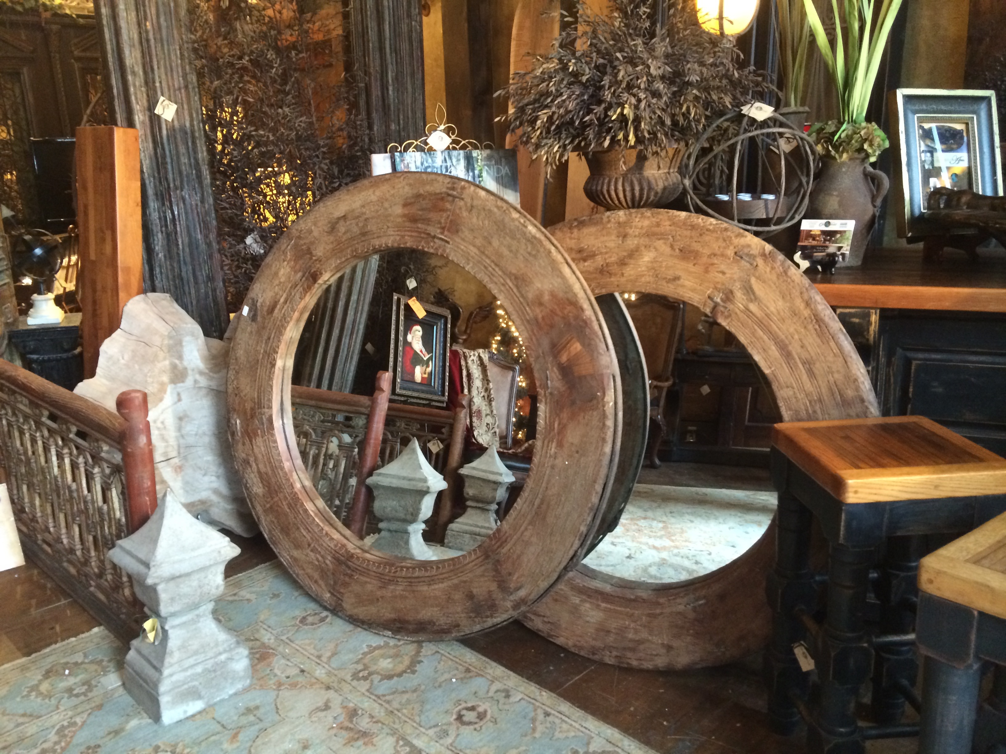Giant Wagon Wheel Mirrors