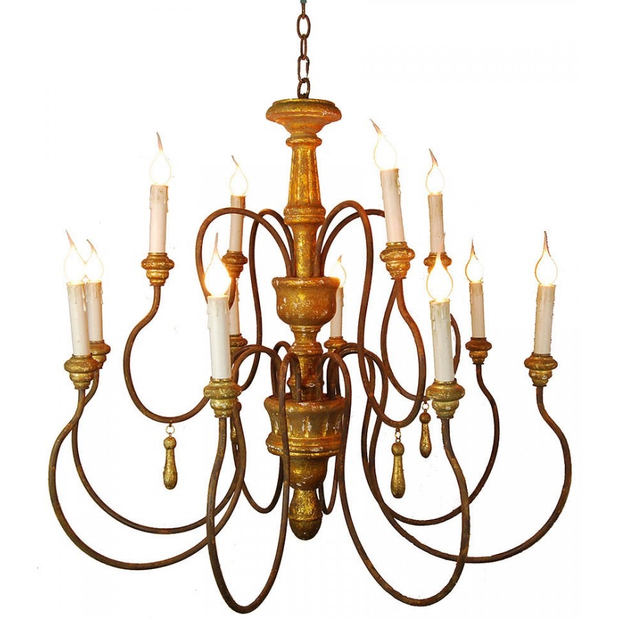RPS7 Wood Centerpiece Chandelier