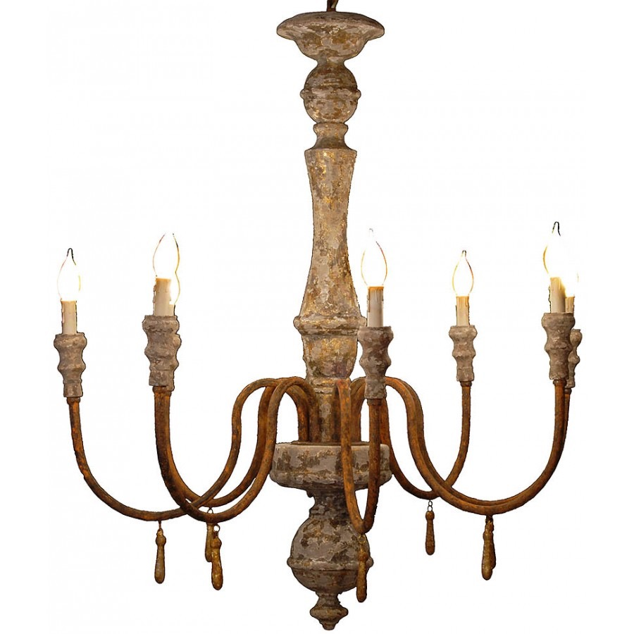 RPS1  Wood Centerpiece Chandelier