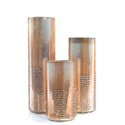 Gatz Glass Candle Holders with Beads