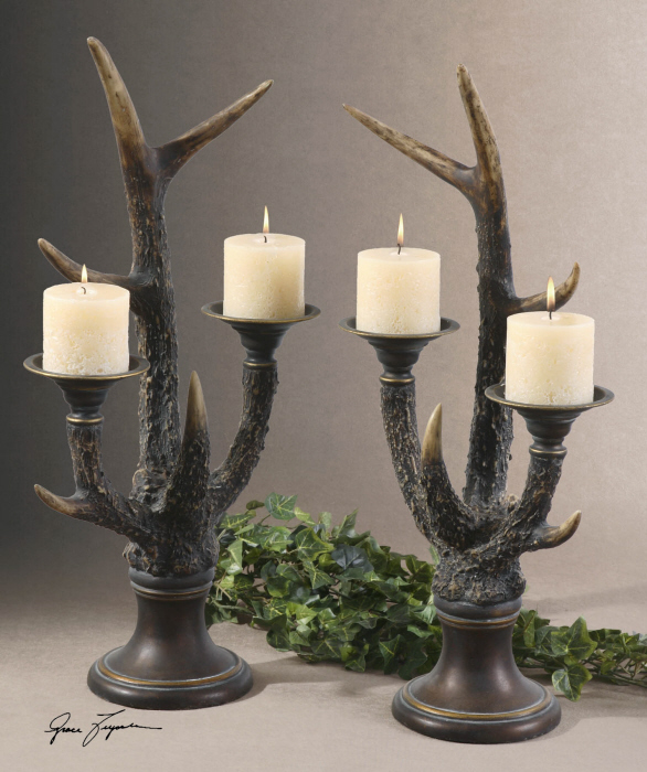 Stag Horn Candleholders