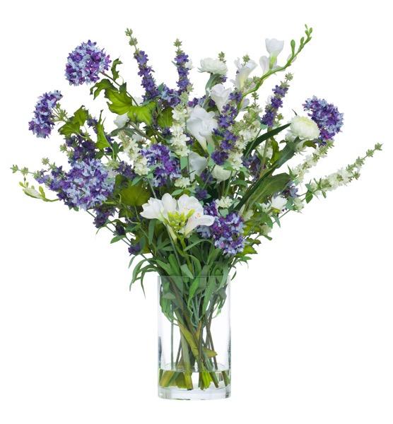 Lavender Cream Floral