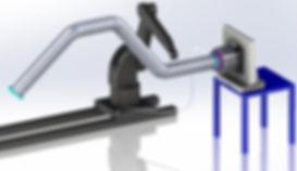 Robot painting arm integration
