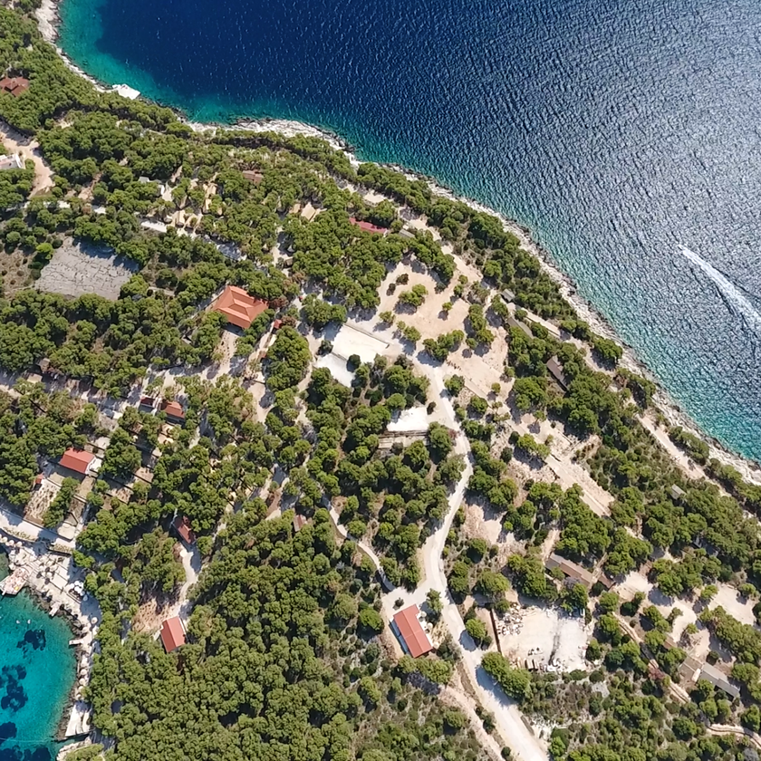 Flying view at Corporate island - exclusively powered by PAS