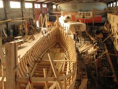 Цех верфи деревянного судостроения Варяг