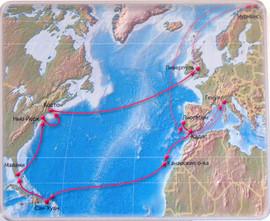Маршрут кораблей в Гранд-регате «Колумб-