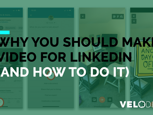 Why you should make a video for Linkedin part of your marketing strategy (and how to do it)