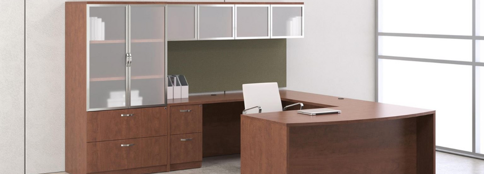 Desk-Sets-L-Shaped-Round-Cabinets-Bookcases-2