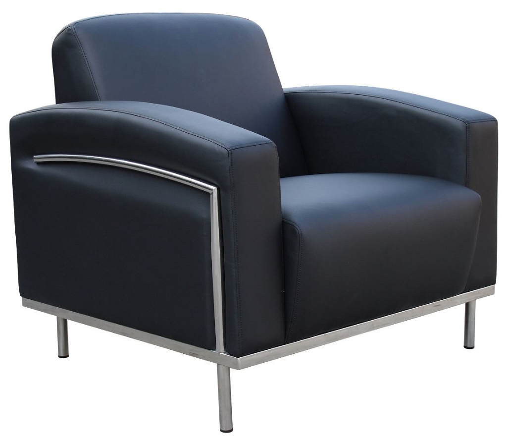 Lobby-Synthetic-Leather-Metal-Legs-Chair