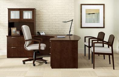 U-Shpaed-Desk-Round
