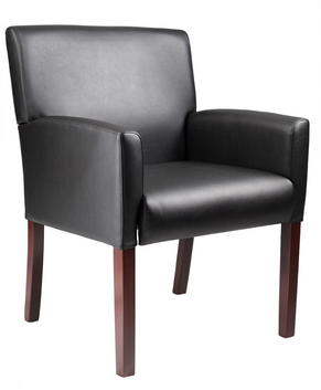 Lobby-Synthetic-Leather-Wooden-Legs-Chair-2