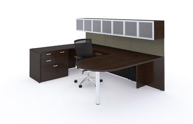 Desk-Sets-U-Shaped-Bullet-Cabinets-Bookcases-3