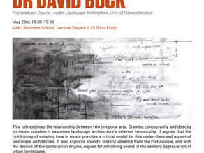 Open Lecture: A Musicology for Landscape, Dr David Buck. 23/5/2018