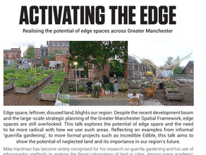 Open Lecture: Activating the Edge, dr Michael Hardman. 6/12/2017