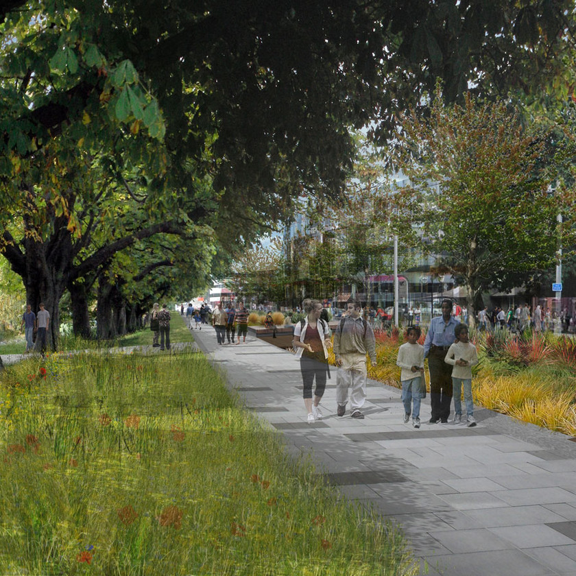 Visualisations of the River Avon Precinct (image courtesy of BDP)