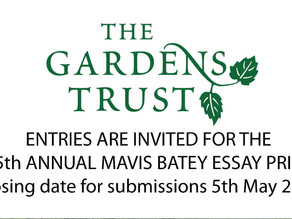Garden Trust competition time