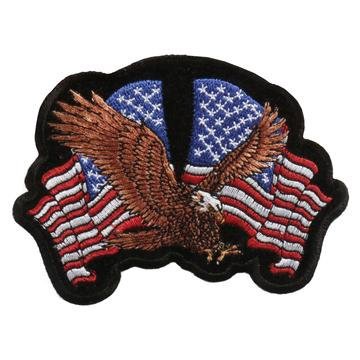 """4"""" X 3"""" Eagle 2 Flags Patch"""