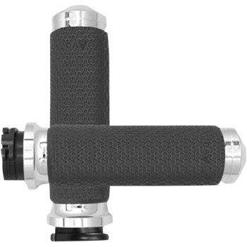 Medium Chrome Vibration Dampening Memory Foam Grips MF-63A-CH