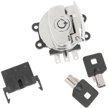 CHROME IGNTION SWITCH W/SIDE HINGE REPLACES OEM#71313-96A