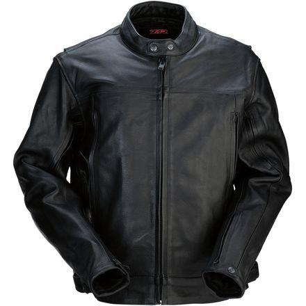 Men's 357 Black Leather Jacket - LG