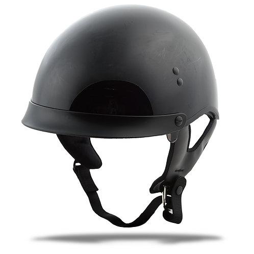 GMAX HH-65 Half Helmet Full Dressed Black Large