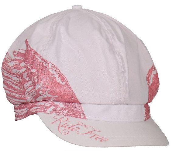 Ladies Ride Free Wings Biker Pie Cap - LRG/XL
