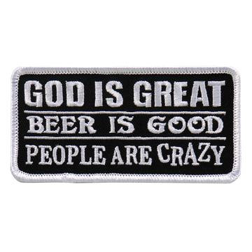 "God Is Great Beer Is Good 4""X2"" Patch"