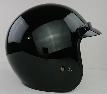 VEGA X-380 Open Face Gloss Black Helmet Small