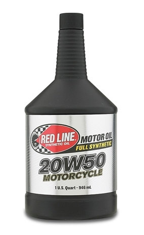 RED LINE Motorcycle Engine Oil Full Synthetic 20W-50 - 1 Qt