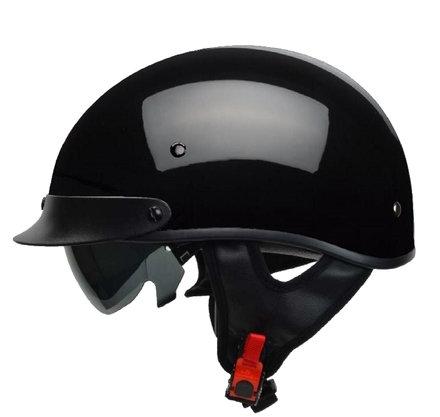 VEGA REBEL WARRIOR - Half Helmet Gloss Black XS