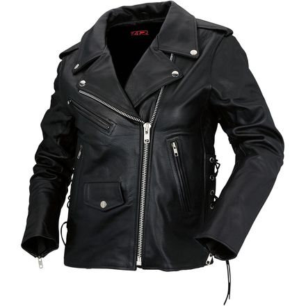Women's 9MM Black Leather Jacket - LG