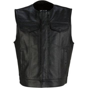Men's Ganja Leather Vest -LG