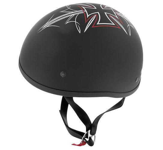 Skid Lid Original Street Rod Helmet - Flat Black Large