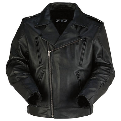Men's Forge Black Leather Jacket -XL