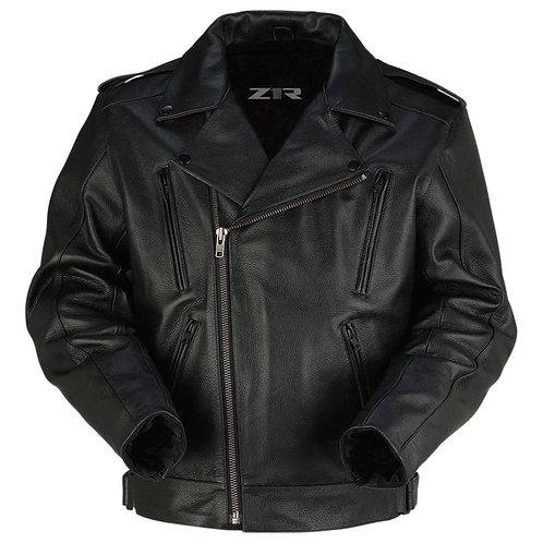 Men's Forge Black Leather Jacket -LG