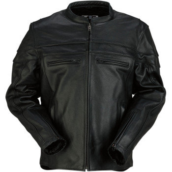Men's Bastion Black Leather Jacket -MD