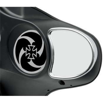 Fits 99-13 FLHT/HX/Trikes Chrome Fairing Mount Mirrors
