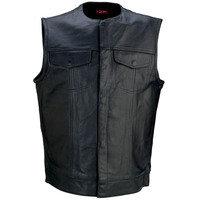 Men's 338 Leather Vest - 2X
