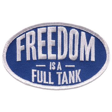 """Freedom Is A Full Tank 4""""X3"""" Patch"""