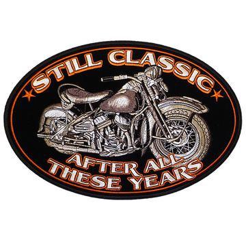 "Classic Bike Oval 5"" X 3"" Patch"