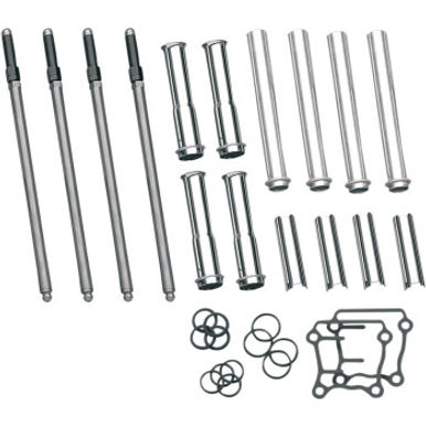 S&S Adjustable Pushrod Kit with Tubes - (99-Up Twin Cam)