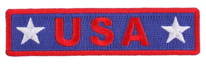 "USA Red White Blue Patch 4"" x 1"""