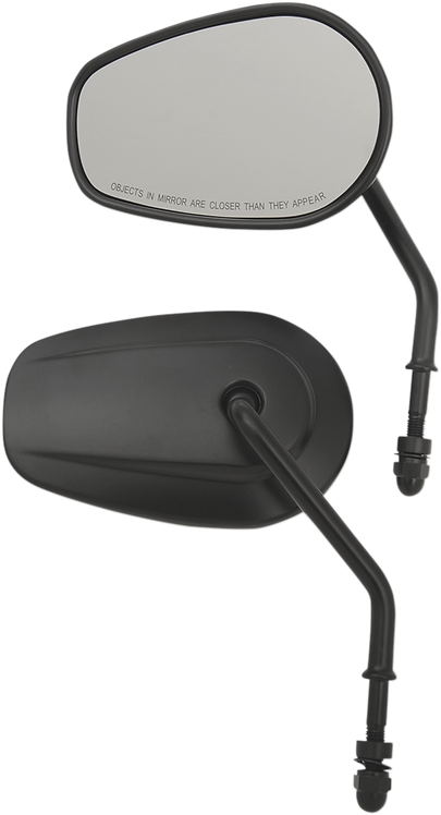 OEM-Style Teardrop Black Short Stem Replacement Mirrors Set