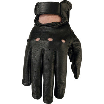 Women's Black Leather Gloves #243 -SM