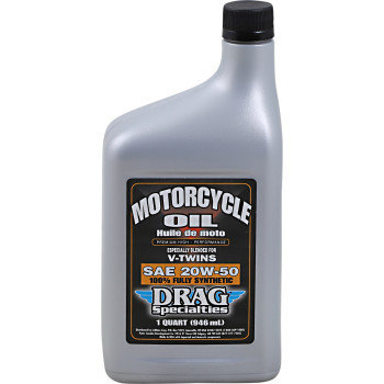 DRAG Motorcycle Engine Oil Full Synthetic 20W-50 - 1 Qt