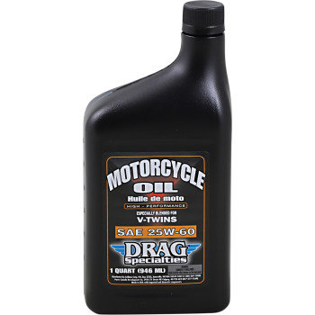 DRAG Motorcycle Engine Oil Conventional 25W-60 - 1 Qt