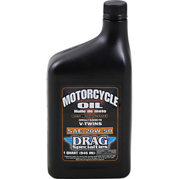 DRAG Motorcycle Engine Oil Conventional 20W-50 - 1 Qt