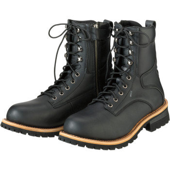 Men's M4 Black Leather Boots - Size 10